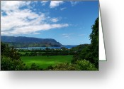 Island Photos Greeting Cards - Hanalei Bay 1 Greeting Card by Ken Smith