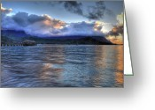 Hanalei Beach Greeting Cards - Hanalei Bay Kauai Hawaii Greeting Card by Kelly Wade