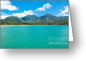 Hanalei Beach Greeting Cards - Hanalei Bay Greeting Card by Kelly Wade