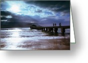 Hanalei Beach Greeting Cards - Hanalei Bay Pier Greeting Card by Linda Ching