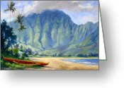 Giclees Greeting Cards - Hanalei style Greeting Card by Jenifer Prince