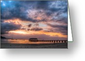 Hanalei Beach Greeting Cards - Hanalei Sunset Greeting Card by Natasha Bishop