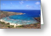 Kevin W .smith Greeting Cards - Hanauma Bay Underwater Park Greeting Card by Kevin Smith