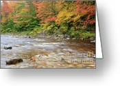 North America Greeting Cards - Hancock Branch - White Mountains New Hampshire  Greeting Card by Erin Paul Donovan