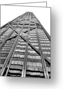 Michigan Avenue Greeting Cards - Hancock Greeting Card by David Bearden