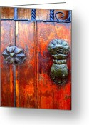Image Gypsies Greeting Cards - Hand on the Door by Darian Day Greeting Card by Olden Mexico