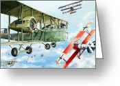 Plane Drawings Greeting Cards - Handley Page 400 Greeting Card by Charles Taylor