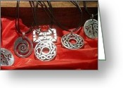 La Fabrica La Aurora Jewelry Greeting Cards - Handmade Silver Pendants Greeting Card by Galeria Rossmore