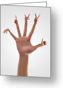 Gestures Greeting Cards - Handsome Hands Greeting Card by Evan Sharboneau