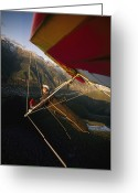 Colorado Photographers Greeting Cards - Hang Glider Over Telluride, Colorado Greeting Card by Skip Brown