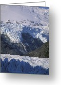 Spires Greeting Cards - Hanging Glacier, Ice Fall, And Spires Greeting Card by Rich Reid