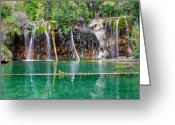 Water Scenes Greeting Cards - Hanging Lake 1 Greeting Card by Ken Smith