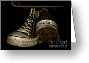 All Star Photo Greeting Cards - Hanging With Chuck Greeting Card by Valerie Morrison
