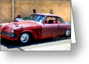 Transportation Greeting Cards - Hanging With My Buddy . 1953 Studebaker .  5D16513 Greeting Card by Wingsdomain Art and Photography