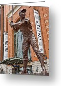 Aaron Greeting Cards - Hank Aaron Statue Greeting Card by Steve Sturgill