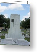 Drifter Greeting Cards - Hank Williams Sr. Headstone Greeting Card by Carolyn Postelwait