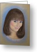 Young Pastels Greeting Cards - Hannah Greeting Card by Tanja Ware