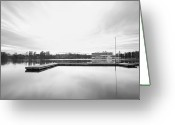 Soccer Stadium Greeting Cards - Hannover I  Greeting Card by Marc Huebner