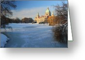 Hall Greeting Cards - Hanover In Winter Greeting Card by Marc Huebner
