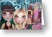 Jaz Greeting Cards - Hansel and Gretel Greeting Card by Jaz Higgins
