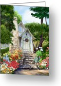 Storybook Greeting Cards - Hansel Cottage Greeting Card by Judith Huth