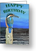 Eftalou Greeting Cards - Happy Birthday Greeting Card by Eric Kempson