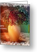 Karo Evans Greeting Cards - Happy Christmas #3 Greeting Card by Karo Evans