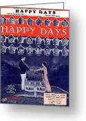 All Star Greeting Cards - Happy Days Greeting Card by Mel Thompson