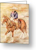Charro Greeting Cards - Happy Greeting Card by Dee Elliott