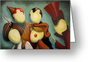 Featured Painting Greeting Cards - Happy Friday Greeting Card by Fabrini Crisci