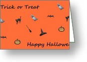 Lynnette Johns Greeting Cards - Happy Halloween Greeting Card by Lynnette Johns