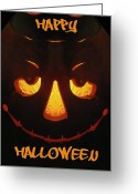 Trick Or Treat Greeting Cards - Happy Halloween Greeting Card by Tim Allen