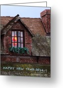 Happy New Year Greeting Cards - Happy New Year 2011 Greeting Card by Viktor Savchenko