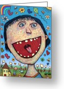 Happy Greeting Cards - Happy Pill Greeting Card by James W Johnson