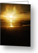 Big Island Greeting Cards - Hapuna Sunset Greeting Card by Kelly Wade
