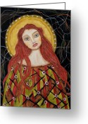 Religious Art Painting Greeting Cards - Harachel Greeting Card by Rain Ririn