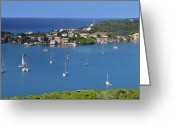 Puerto Rico Greeting Cards - Harbor Blues Greeting Card by Stephen Anderson
