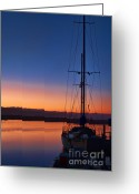 Dana Point Greeting Cards - Harbor Sunrise Greeting Card by Eddie Yerkish