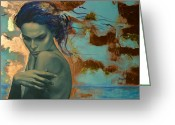Sad Greeting Cards - Harboring Dreams Greeting Card by Dorina  Costras