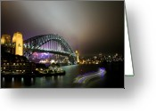 Sydney Harbour. Circular Quay Greeting Cards - Harbour Ferry Greeting Card by Kirsten Chee