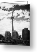 Harbourfront Greeting Cards - harbourfront skyline with CN tower toronto ontario canada Greeting Card by Joe Fox