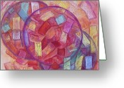 Symbolic Pastels Greeting Cards - Hard Candy Greeting Card by Patricia High