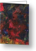 Abstract Prints Greeting Cards - Hard Limits Greeting Card by Michel  Keck