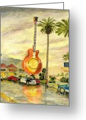 Melly Terpening Greeting Cards - Hard Rock Cafe Las Vegas Greeting Card by Melly Terpening