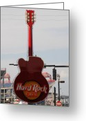 Nashville Greeting Cards - Hard Rock Cafe Nashville Greeting Card by Susanne Van Hulst