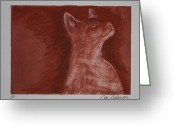 Kitten Pastels Greeting Cards - Hardly Here Greeting Card by Cori Solomon