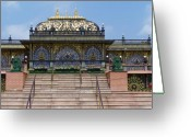 Hare Greeting Cards - Hare Krishna shrine Greeting Card by Vijay Sharon Govender