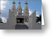 Hare Greeting Cards - Hare Krishna Temple in SA Greeting Card by Vijay Sharon Govender