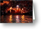 Aunit Sharma Greeting Cards - Haridwar Greeting Card by Aunit Sharma
