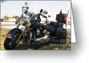 Chevalier Greeting Cards - Harley Classic Greeting Card by Elizabeth Chevalier